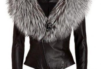 Lederjacke mit Silver Fox – klassische Mode