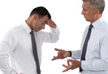 Repreendido no trabalho: as conseqüências, os motivos e procedimentos para remoção