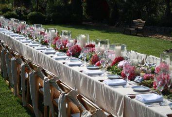 Der perfekte Tisch für eine Hochzeit Einstellung: die Regeln und Feinheit