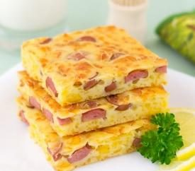 recette intéressante – tarte au fromage et des saucisses