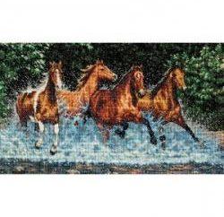 motywy naturalne. Cross Stitch koń