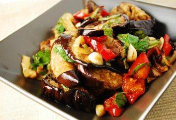 sałatka przepis bakłażan w koreańskim z warzywami i marynaty