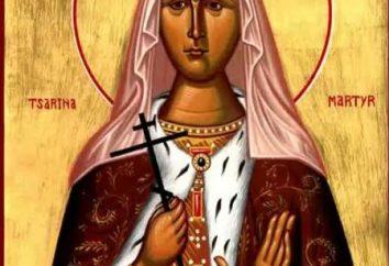 Heilige Alexandra: die Ikone, der Tempel. St. Alexandras Tag