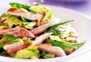 Come diverso per preparare un'insalata con pinoli e pollo