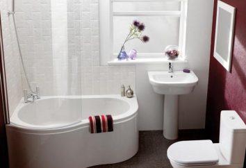 El baño más pequeño: tamaños, formas. Mini baños angulares, sésiles, redondos