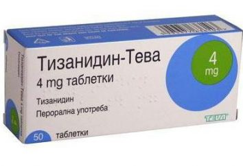 "A droga ""tizanidina"": instruções de uso, sinônimos. ""Tizanidine-Teva"", ""tizanidina-Ratiopharm"""