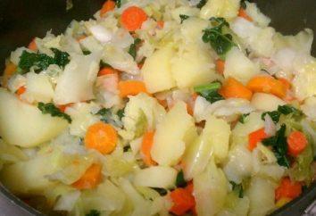 Repolho cozido com batatas na multivariada: como cozinhar com carne picada?
