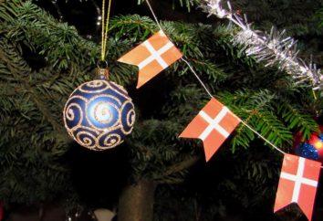 guirlande de Noël de drapeaux avec leurs mains