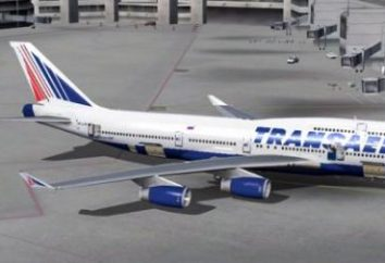 """El esquema del avión """"Boeing-747-400"""" """"Transaero"""". Los mejores lugares"""