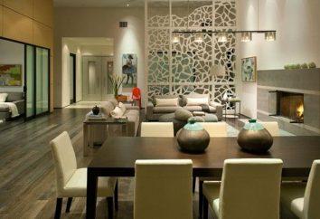 partizioni decorativi per la suddivisione in zone dello spazio nella stanza. L'idea di utilizzare le partizioni