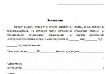 182N, un certificat. Aide sur les salaires pendant 2 ans: l'échantillon