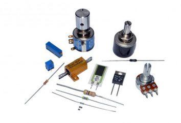 Codifica colore resistore. Designazione regime resistori di potenza