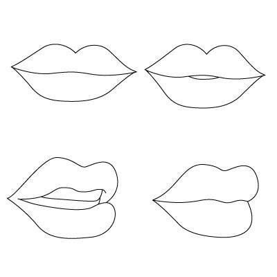 Portrait comment dessiner un crayon l vres en plusieurs - Dessin de bouche a imprimer ...