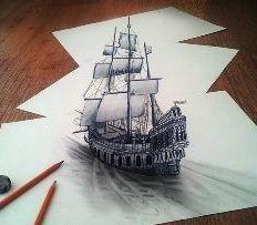 Jak nauczyć się rysować 3D rysunki na papierze? Wykonywanie rysunków 3d ołówka na papierze etapami