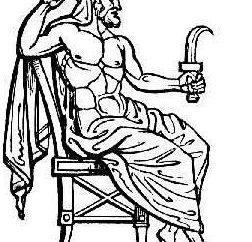 L'età d'oro di Zeus e il titano Crono. Mitologia della Magna Grecia