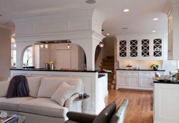 Die Gestaltung der Wohnküche. Zwei Zimmer kombiniert in einem