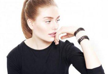 Elastyczna bransoletka włosów Crystal Clear