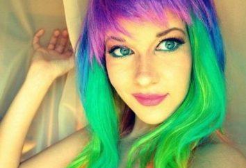cheveux multicolores – une expérience intéressante