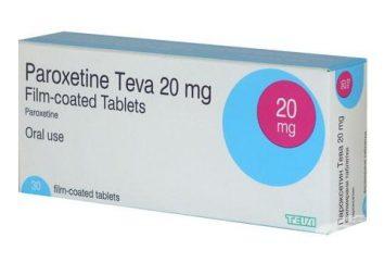 """""""Paroxetina"""": istruzioni per l'uso, recensioni. analoghi di droga"""