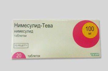 """""""Nimesulide-Teva"""": instrukcję obsługi, analogi narkotyków i opinie"""