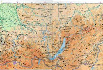 cresta Salairsky. Mapa de Rusia – región de Altai. logs Salairsky, región de Novosibirsk