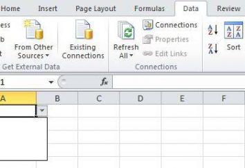 Jak Excel, aby list rozwijanych: najprostsze metody