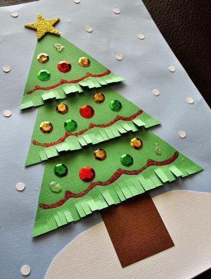 Cartoline Di Natale Con Foto Proprie.Bambini Cartolina Di Natale Con Le Proprie Mani