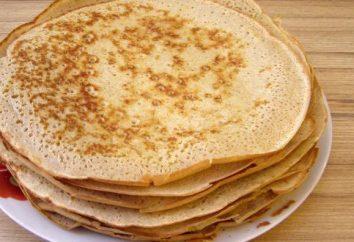 Wie Pfannkuchen mit Milch vorbereiten?