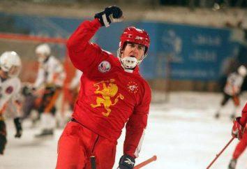 Jogador do hóquei nacional russo Sergey Lomanov