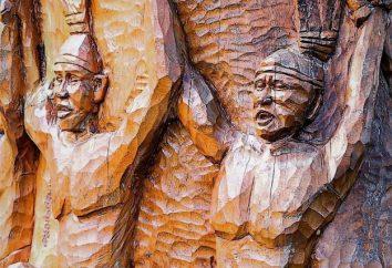 Rosyjski drewniana rzeźba