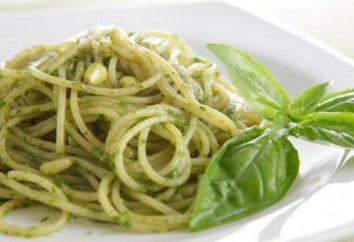 Pâtes « pesto »: la recette de la cuisine italienne. Plusieurs variantes de plats