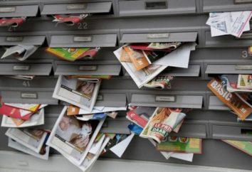 la distribution de tracts dans Unaddressed boîtes aux lettres et publicité: caractéristiques et recommandations