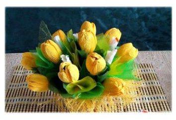 Tulipany słodyczy i tektury falistej. Tulipany słodyczy: klasa mistrz