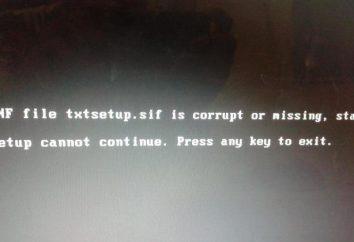 Erreur « fichier .inf txtsetup.sif endommagé ou manquant »: comment réparer?