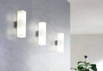 Como pendurar um candeeiro na parede: dispõe de acomodações