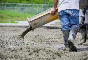 Jak ugniatać betonu: odsetek (tabela)