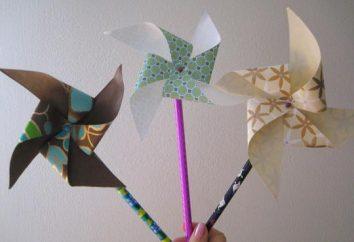 Como fazer cata-vento de papel
