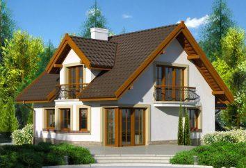 Maison 6 sur 6 avec un loft: la planification. La maison 6 de 6 avec une mezzanine et une terrasse