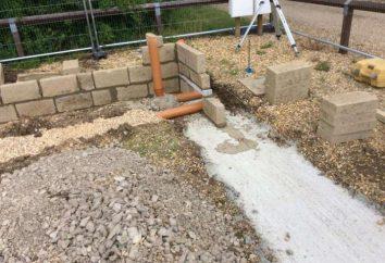 La fundación bajo el baño con un lavabo. Drenaje en el baño: el dispositivo y características de construcción
