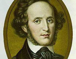 La creatività e la biografia di Mendelssohn. Quando ha sentito marcia nuziale di Mendelssohn?