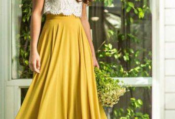 Musztarda kolorze spódnicy: w co się ubrać i jak wybrać kolorowe paski?