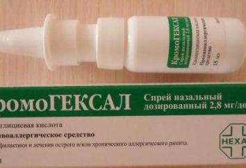 """Kromogeksal"", spray nasal: commentaires, description et instructions d'utilisation"
