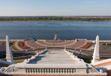 Nizhny Novgorod, scale Chkalov dal terrapieno Volga
