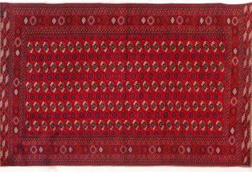 Turkmeńskie dywany: przegląd, typy, produkcja i opinie