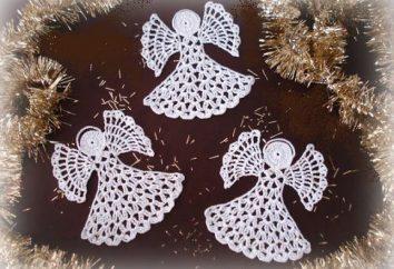 Angel crocheted crocheted: padrões, descrição detalhada