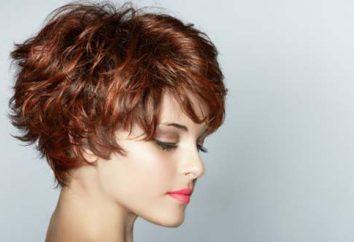 corte de cabelo Pixie-bob curto para cabelos médios: foto