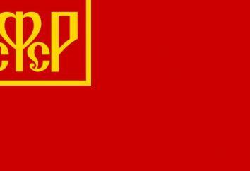 Bandiera e stemma della RSFSR. Come si trova la RSFSR?
