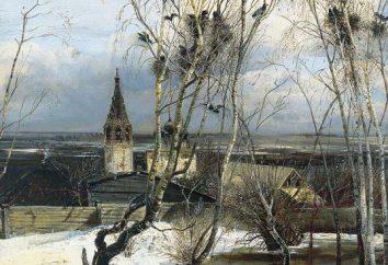 "Kompozycja na obrazie ""Rooks Arrived"" Savrasov"