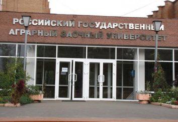 Rosyjski Państwowy Uniwersytet rolna korespondencji: opis, specjalność, zwłaszcza dochodów i opinie