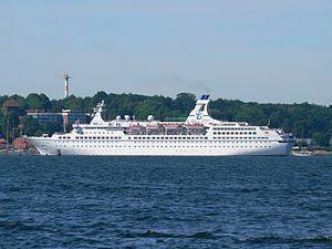 """Buque """"Fyodor Dostoevsky"""". flota fluvial de Rusia. En el barco en el Volga"""